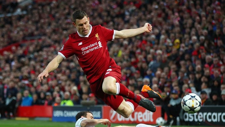 James Milner misses Sunday's game with Brighton with a muscle injury