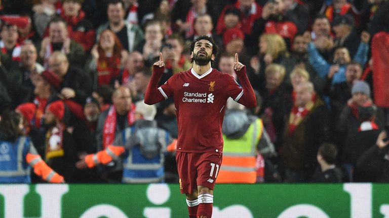 Salah was named PFA Player of the Year after a stunning first season at Liverpool