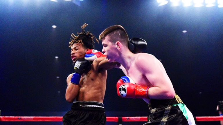 The Irish teenager stopped Keasen Freeman inside the first round