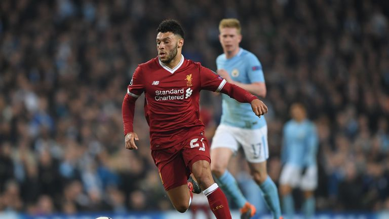 Alex Oxlade-Chamberlain does not mind who Liverpool draw in the Champions League semi-finals