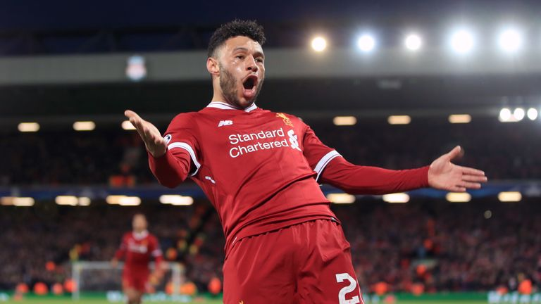 Alex Oxlade-Chamberlain scored Liverpool's second goal