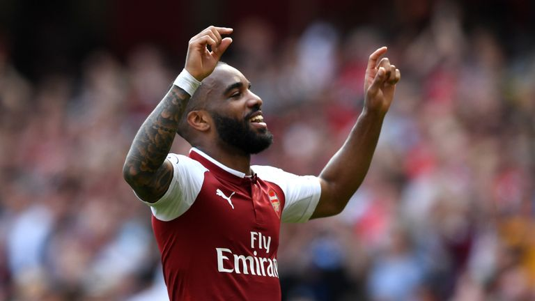 Alexandre Lacazette has scored six goals in his last six matches in all competitions for Arsenal