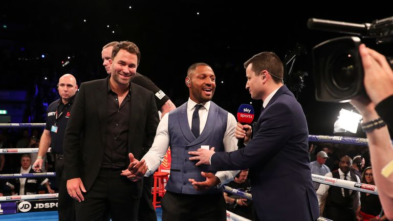 Brook stepped into the ring and called for a clash against Khan