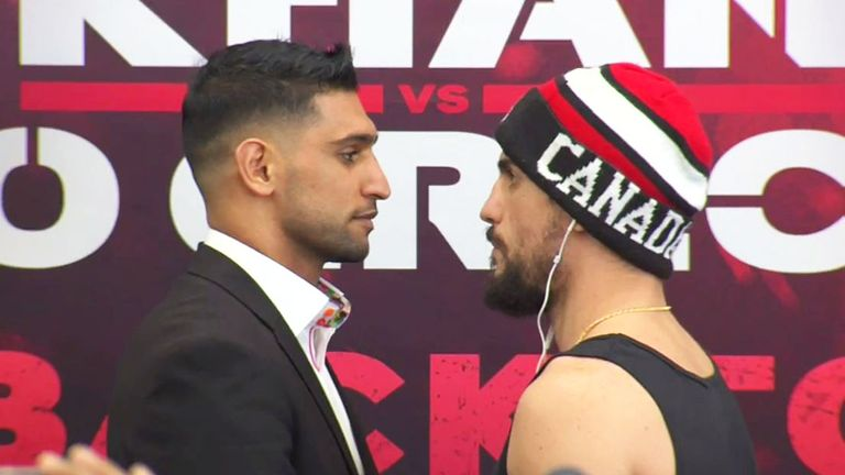 Amir Khan and Phil Lo Greco went face to face