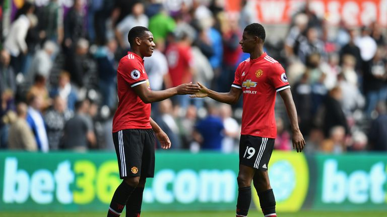 Anthony Martial and Marcus Rashford face a battle to get into Manchester United's starting line-up