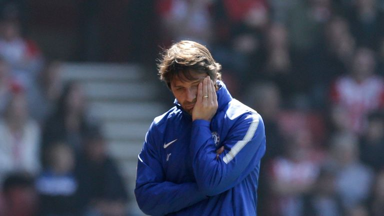 Antonio Conte was frustrated by Chelsea's first-half performance