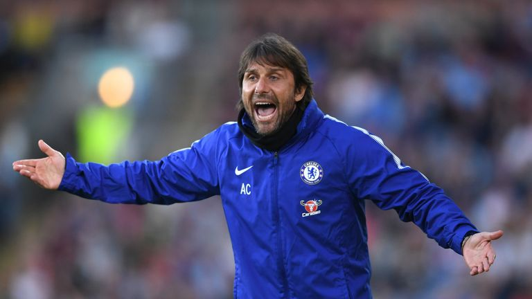 Conte left Chelsea in July 2018