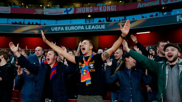 CSKA Moscow fans made themselves heard