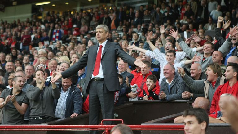Wenger was sent to the Old Trafford stands in 2009