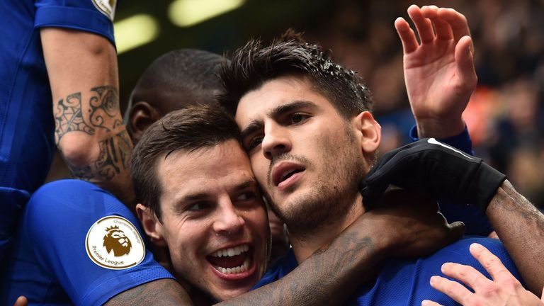 Chelsea's Azpilicueta and Alvaro Morata have formed a productive partnership