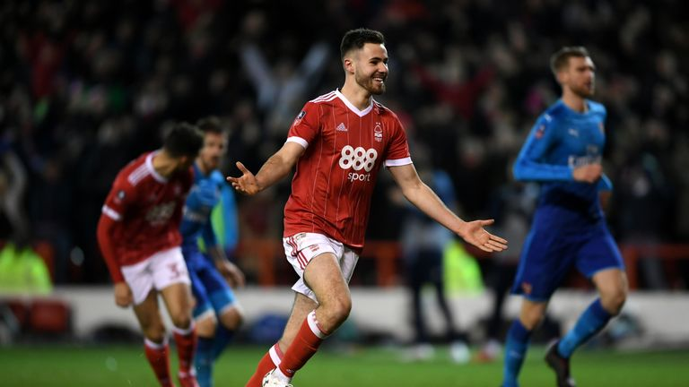 Forest's Ben Brereton will be hoping to make his first appearance of the season