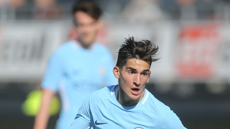 Benjamin Garre joined Manchester City from Velez Sarsfield in 2016