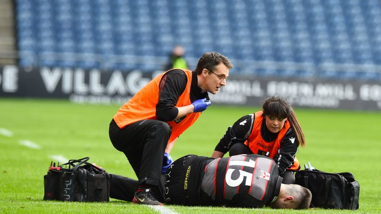 The only negative of the day for Edinburgh was the knee injury suffered by full-back Blair Kinghorn