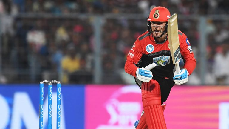 Brendon McCullum opens the batting for Bangalore