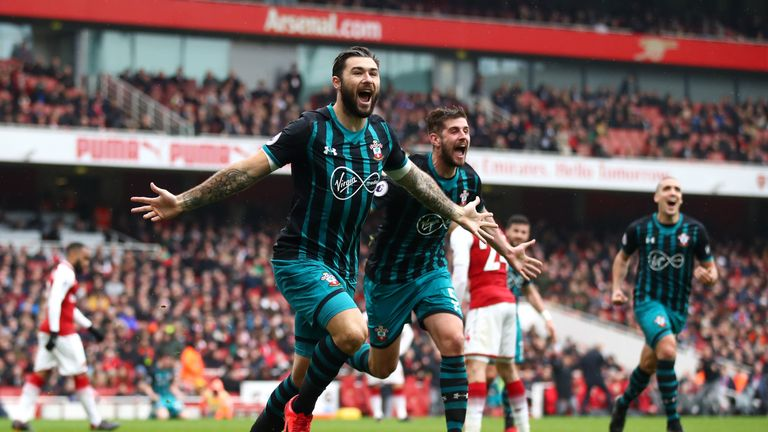 Southampton striker Charlie Austin levelled the tie at 2-2 against Arsenal
