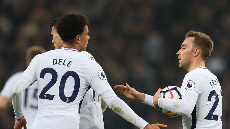 Christian Erisken pulled a goal back for Spurs but it failed to inspired a comeback