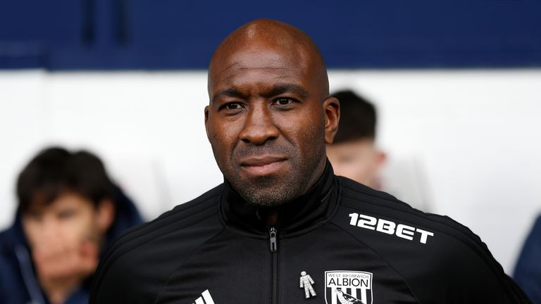 Darren Moore took caretaker charge of West Brom against Swansea after Alan Pardew left by mutual consent on Monday