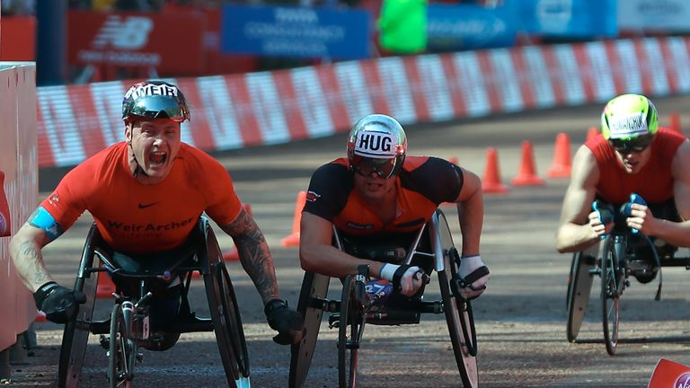 David Weir is an eight-time London Marathon winner