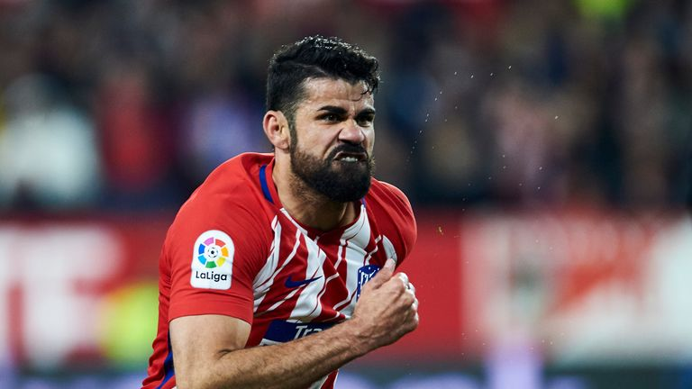 Diego Costa will sit out the Europa League semi-final first-leg at Arsenal, according to Diego Simeone