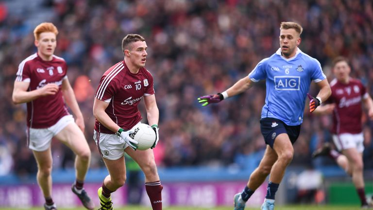 Eamonn Brannigan during the Allianz Football League Division 1 final between Dublin and Galway. Photo by Stephen McCarthy/Sportsfile