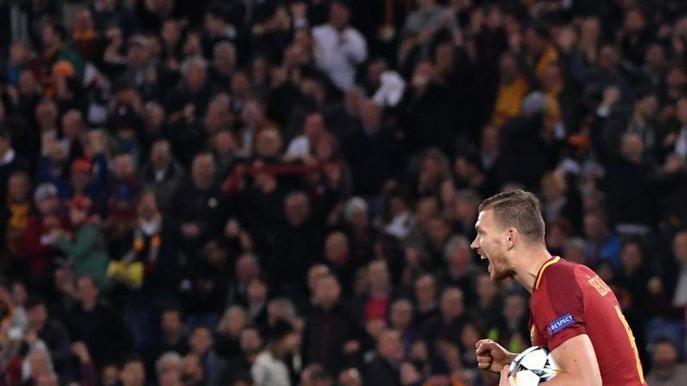 Edin Dzeko was on target as Roma beat Empoli 2-0