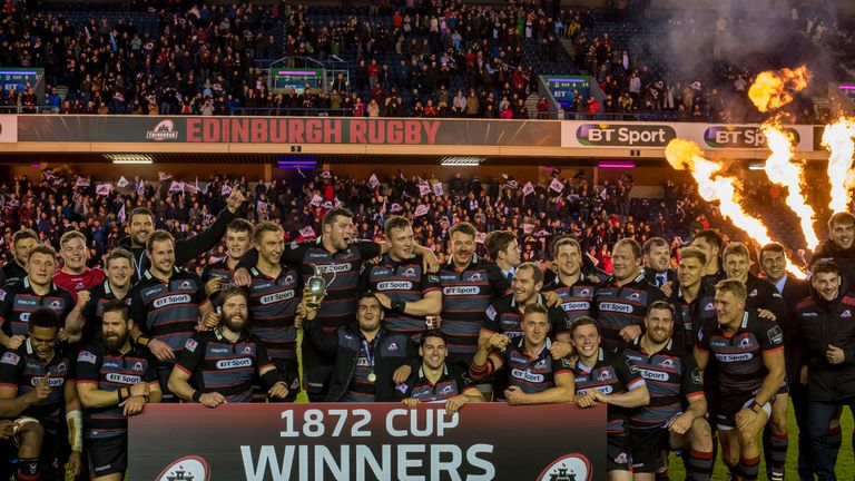 Edinburgh celebrate winning the 1872 cup