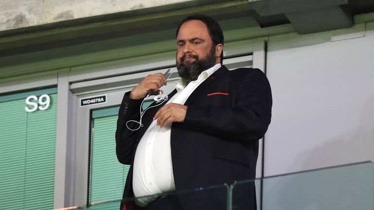 Olympiakos president Evangelos Marinakis is also the owner of Nottingham Forest