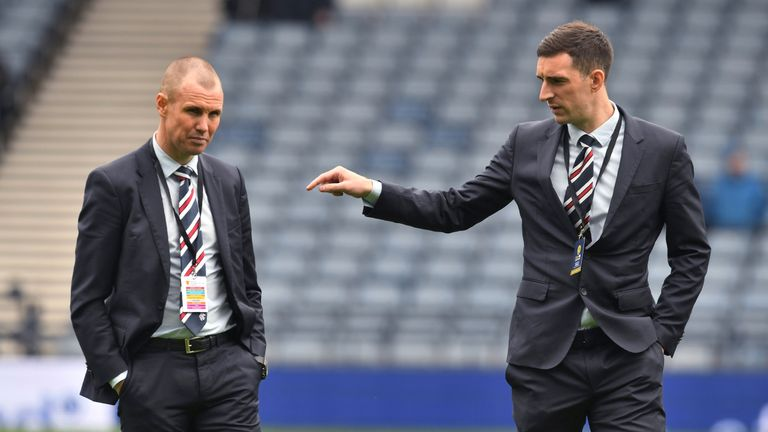 Miller (left) and Wallace have been suspended by Rangers