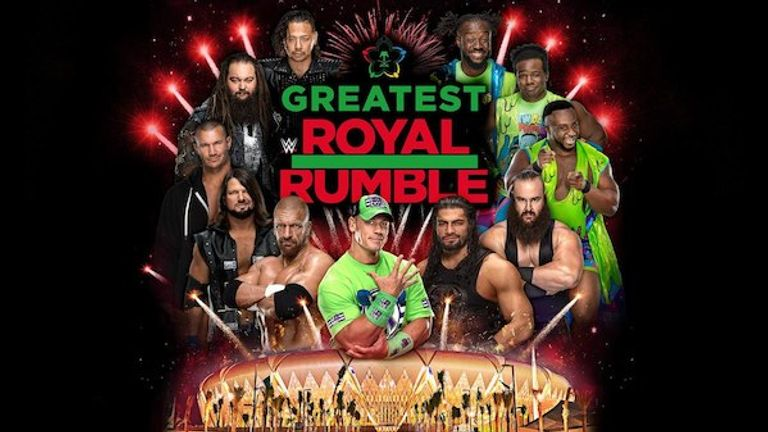 The Greatest Royal Rumble takes place at 5pm on Friday night