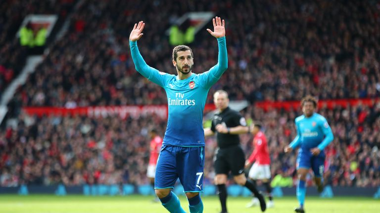 Henrikh Mkhitaryan held back on his celebrations after scoring against his former club