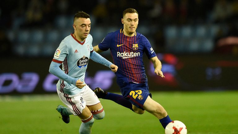 Iago Aspas scored a hat-trick against his former side as Celta Vigo beat Sevilla 4-0