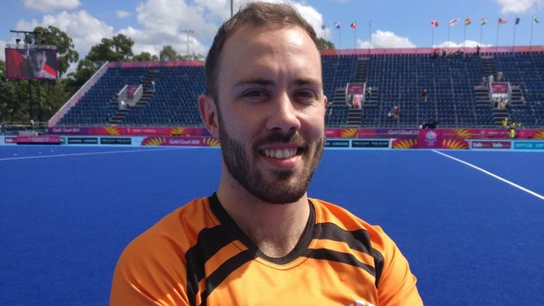 Jamie Hooper is experiencing his first Commonwealth Games since joining the international hockey umpire list