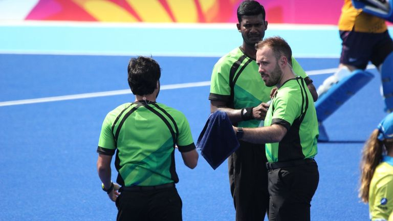 Hooper meets fellow hockey officials from around the world as part of his international umpiring commitments
