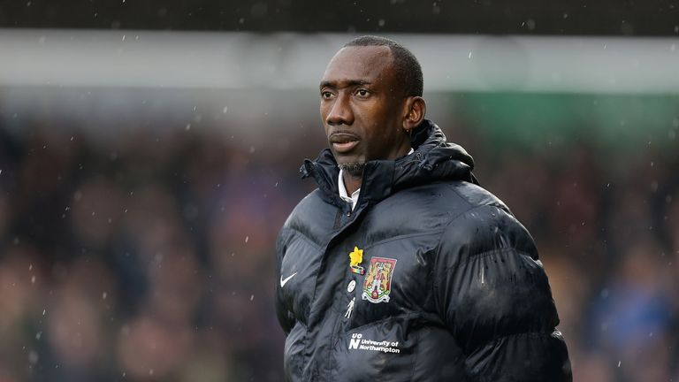 Jimmy Floyd Hasselbaink has been sacked by Northampton Town