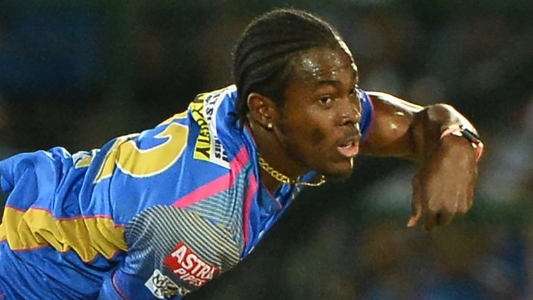 Jofra Archer took 3-22 on debut for Rajasthan Royals (Credit: AFP)