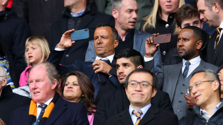 Agent Jorge Mendes' clients include Cristiano Ronaldo, Bernardo Silva and Diego Costa