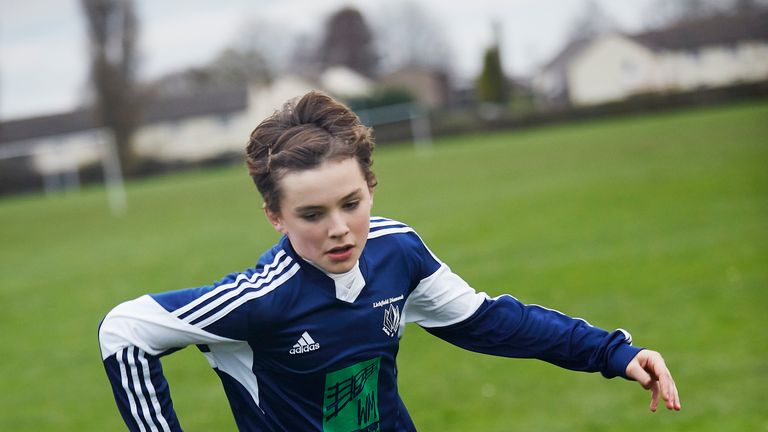 The film's title character Charlie (Harry Gilby) has an offer to join a Premier League academy