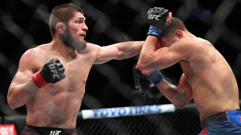 Nurmagomedov picked up the lightweight title in April