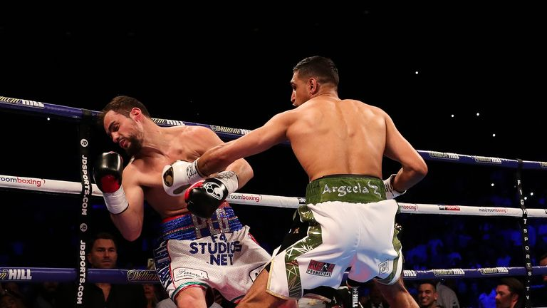 Khan made his comeback with a first-round knockout of Phil Lo Greco in April