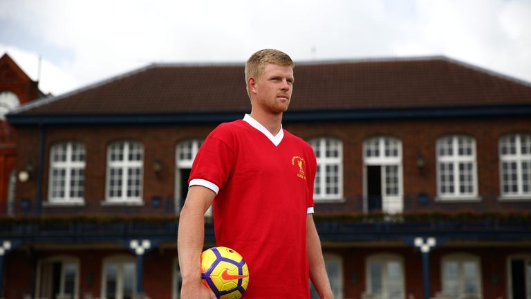 Edmund in his Liverpool shirt at Queen's Club