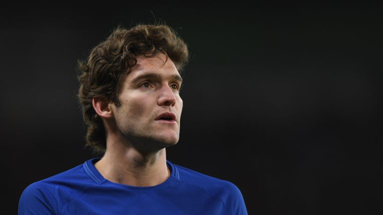 Marcos Alonso was not booked for the incident at the time