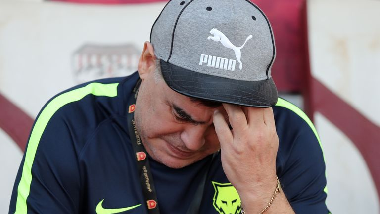 Diego Maradona had only been in charge of the UAE club for 11 months
