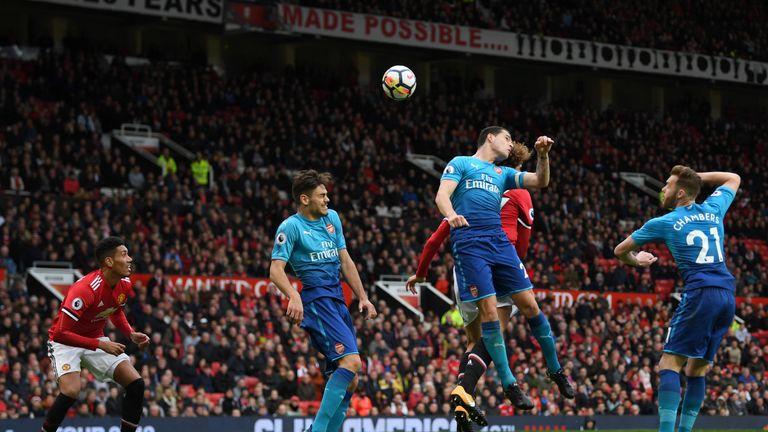 Marouane Fellaini rises highest to head in United's winner