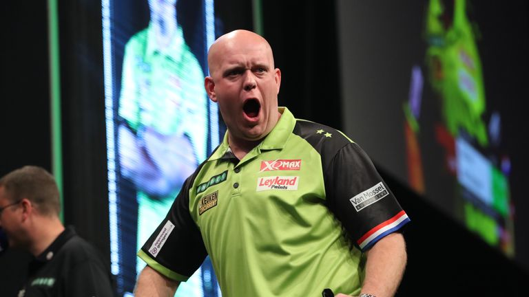 Michael van Gerwen's fine run of Players Championship form continued in Wigan