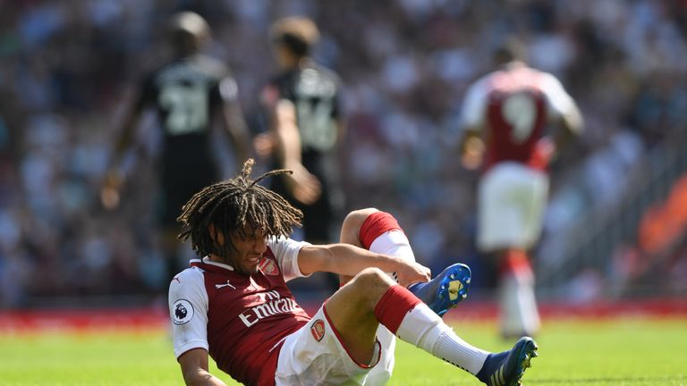 Mohamed Elneny gave Egypt supporters a pre-World Cup scare on Sunday