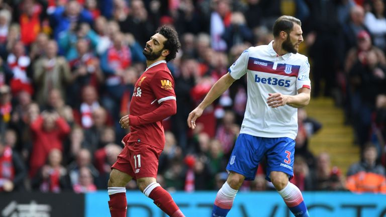 Mohamed Salah spurned a glorious chance to put Liverpool ahead inside 10 minutes