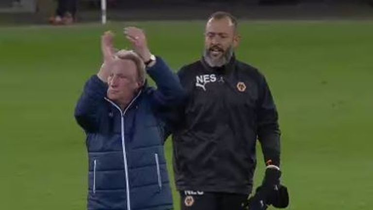 Warnock walked away from Nuno and branded him a 'total disgrace' after the Wolves boss' celebrations last season