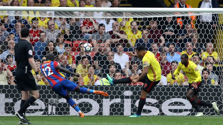 Troy Deeney was on hand to clear the danger after James Tomkins' header hit the post
