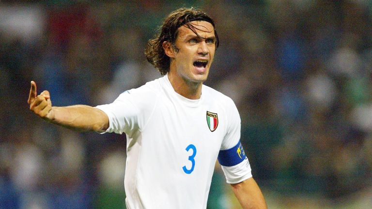 Paolo Maldini won 126 caps for Italy