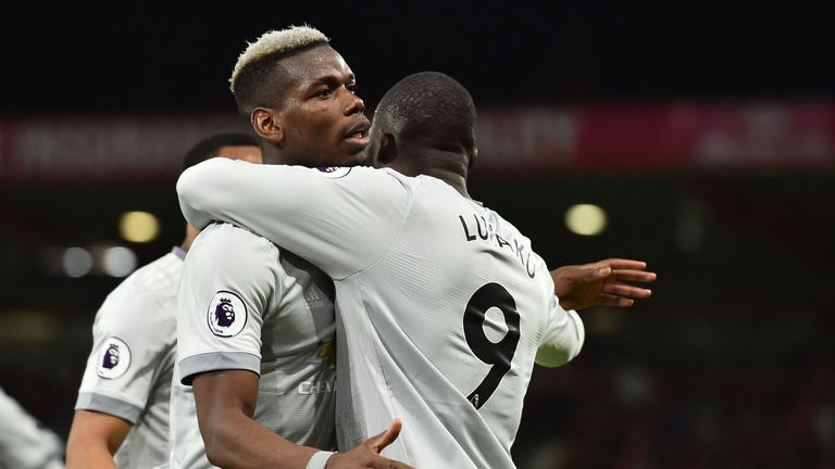 Pogba set up Romelu Lukaku's goal against Bournemouth